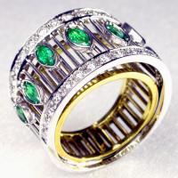 Anello fili smeraldi 03